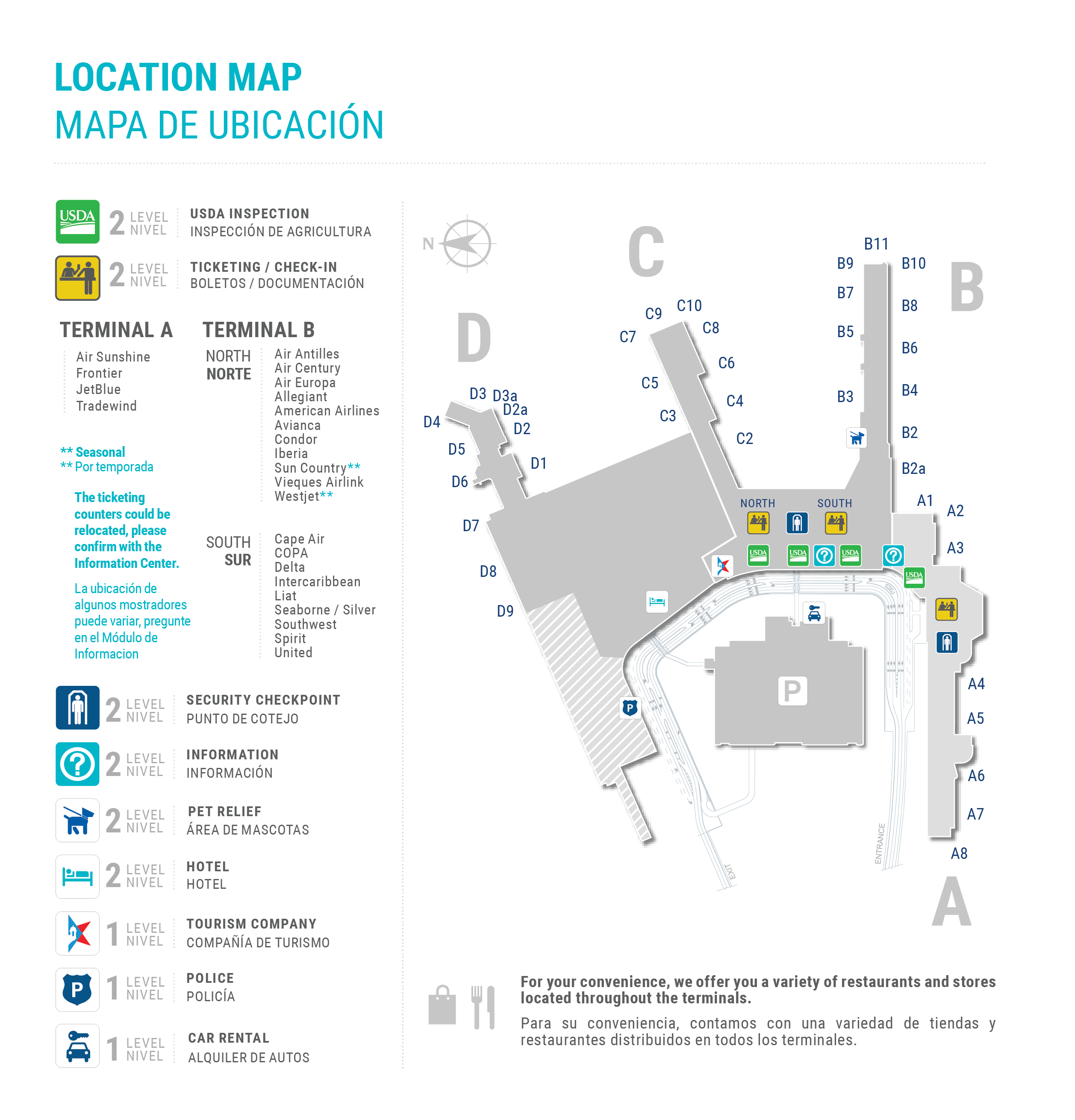 luis munoz marin airport map Maps Luis Munoz Marin International Airport luis munoz marin airport map